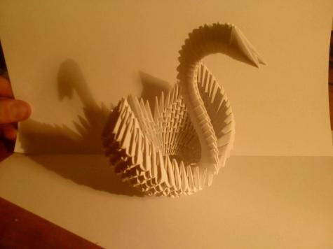 Origami labuť
