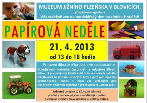 Papírová neděle - Blovice 21.4.2013