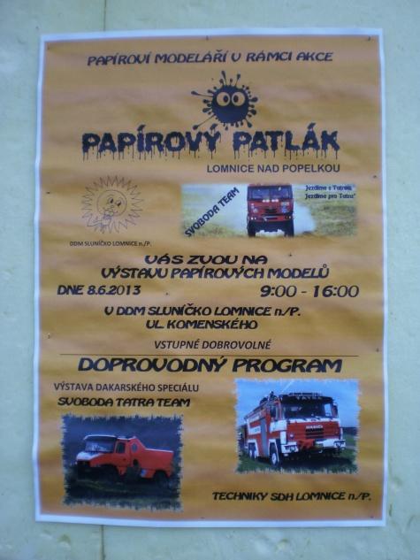 Papírový patlák - Lomnice nad Popelkou 7. - 9. 6. 2013