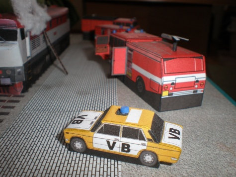 Požár lokomotivy 80tá léta