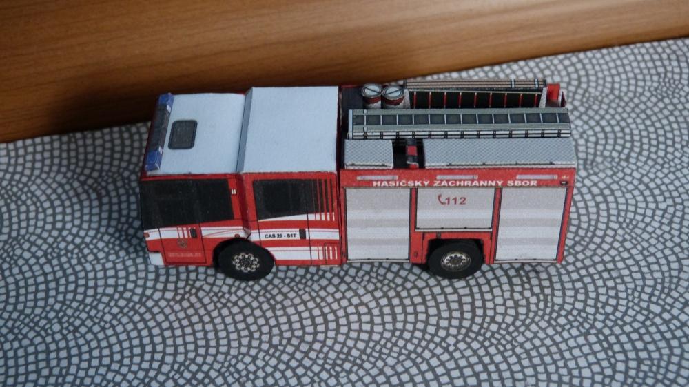 Požární vozidla z Ostravy
