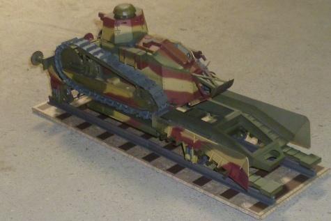 Renault R-17 + železniční podvozek
