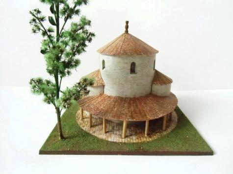 rotunda Mikulčice - rekonstrukce