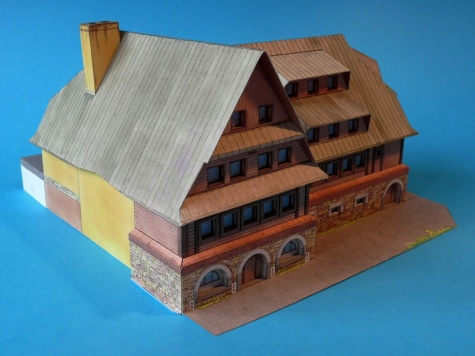 Rozhledna a chata na Suchém vrchu