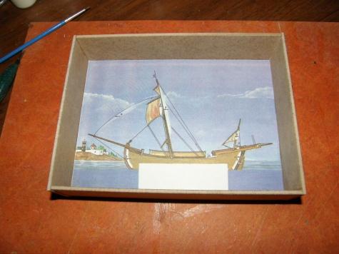 Sakoleva obrázek v krabičce