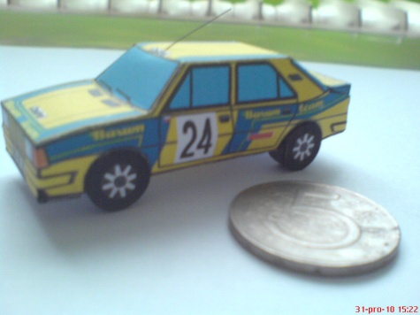 Škoda 130LR-Barum team