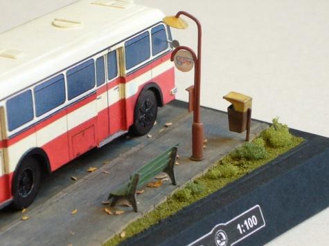 Škoda 706 RO městská verze (1953) + diorama
