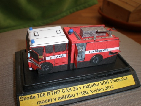 Škoda 706 RTHP CAS 25 v majetku SDH Třebenice