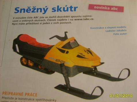Sněžný skútr - Ski - Doo Alpine III.