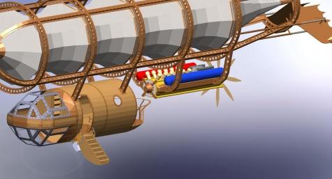 SteamPunk vzducholoď