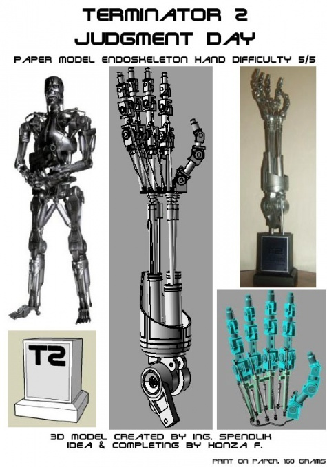 T2-endoskeleton hand
