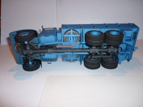 Tatra 111 s valníkovým přívěsem