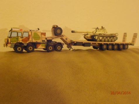 Tatra T-816TTT + KOGEL tankovy naves + tank T-55
