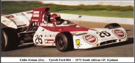 Tyrrell 004, E. Keizan,  GP South Africa 1974 - beta