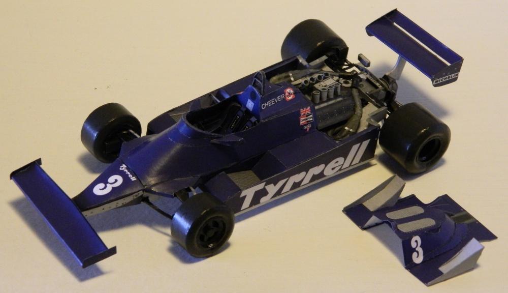 Tyrrell 010 Ford Eddie Cheever - GP Brazil praktice 1981