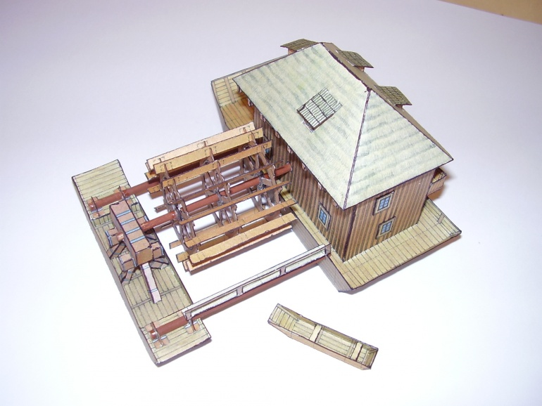 upoutaný vodní mlýn