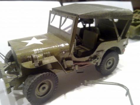 US Jeep Willys s přívěsem