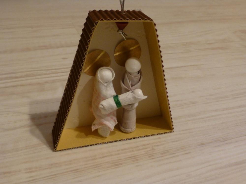 Vánoční betlém, ozdoba na stromeček