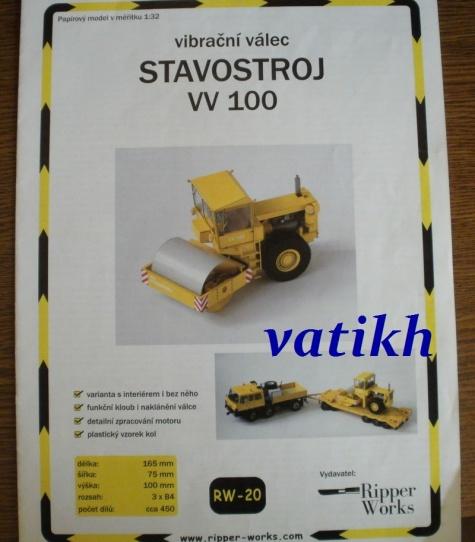 vibrační válec STAVOSTROJ VV 100