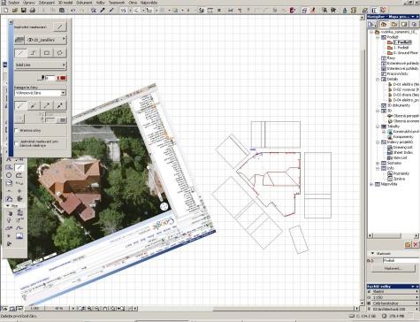 Vila v Praze - konstrukční paralelka