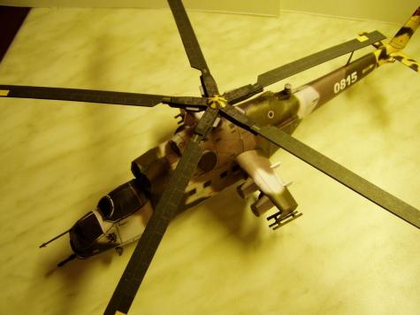 Bitevní vrtulník Mi-24 Hind