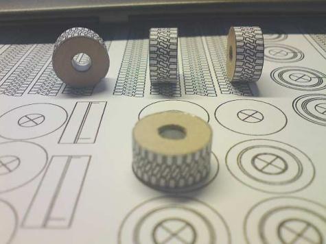 výroba papierových kolies