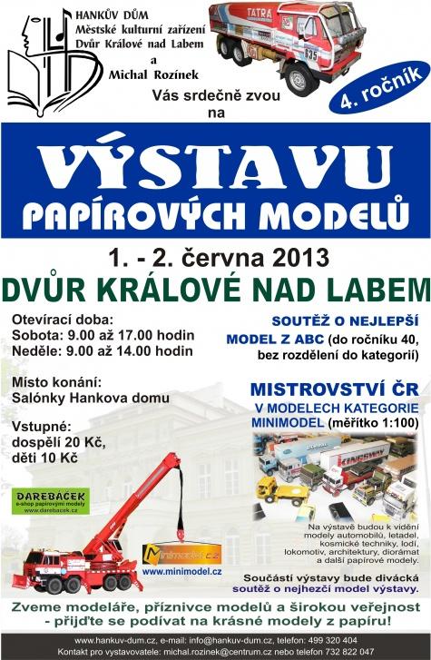 Výstava papírových modelů Dvůr Králové nad Labem 1. - 2. června 2013