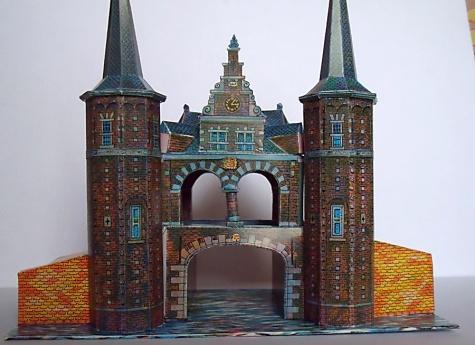 Waterpoort te Sneek (vodní brána ve Sneeku - Nizozemí)