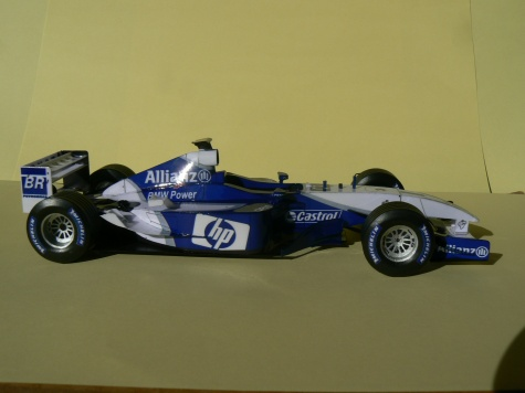 WILLIAMS FW 25 2003-J.P.Montoya,Press and test version