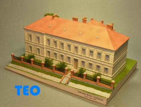 Základní škola v Jehnicích okolo roku 1930